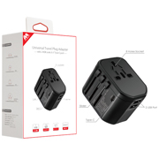 MyBat Universal Travel Plug Adapter(with 3 USB Charging Ports) - Black